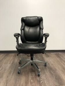 Serta 44086 Ergonomic Executive Office Chair Black Pu Leather Used Comfortable