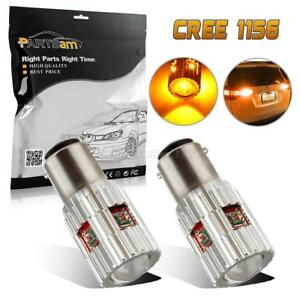 2x 1156 7506 Amber No Error Turn Signal Light Cree High Power Led Projector Bulb