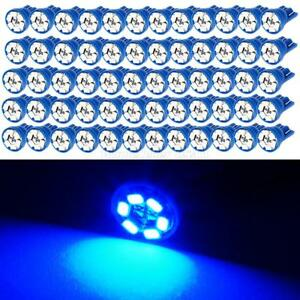 100x Blue T10 194 168 Led Bulbs Instrument Dash Light Interior Dome Map Lamps