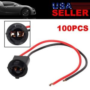 100x T10 194 2825 Hole Led Extension Connector Wire Harness Instrument Gauge