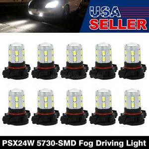 10x Fog Driving Light Psx24w 1 cree xpe 12 5730 smd White High Power Led