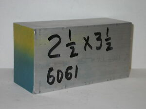 2 1 2 X 3 1 2 6061 Aluminum Flat Bar Block 1 Piece 2 50 Thick