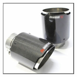 Luxury Stainless Steel Modify Carbon Fiber Car Exhaust Muffler Pipe Tip 60 89mm