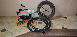 Ridgid K 60 Sectional Machine Drain Cleaner W 75 Snake Hose And Tips