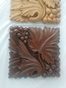 Relief Carved Wooden Panels One Finished And One Unfinished