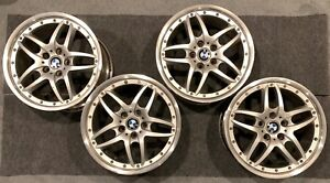 Bmw Style 71 2 piece 18 Wheels rare Staggered Fits E46 Full Set Of 4