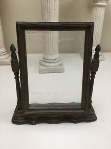 Vintage Antique Art Deco Wood Frame For Photo Portrait 5 X 7 Swivel Stand