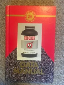 Hodgdon Data Manual 26th Edition Hardcover 1992  Reloading Manuals Very Good Use