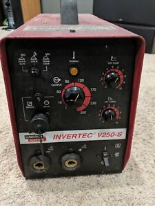 Lincoln Electric Invertec V250s Stick Tig Welder Tested Working Condition