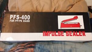 Pfs 400 Heat Sealing Hand Impulse Sealer Machine For Pp Pe Poly Bags Up To 16