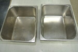 2 Pack Stainless Steel Steam Prep Table Pan 10 1 2 X 12 1 2 X 6 Deep