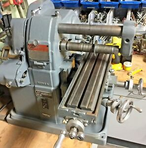 Atlas Mfc Horizontal Mill Milling Machine Vintage Nice Usa Made Craftsman Clean