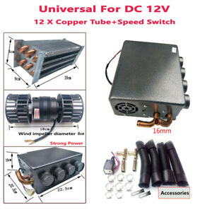 12v Universal Copper Underdash Compact Heater 12x Copper Tube 1x Speed Switch