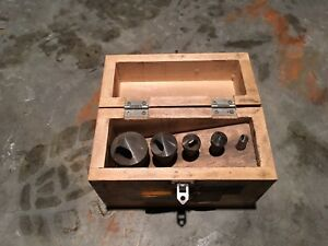 Countersinking Deburring Tools 1 1 16 9 16 Enco Manufacturing Set With Box