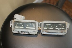 1950 1951 1952 1953 1954 1955 1956 Willys Jeepster Jeep Gauges Nice