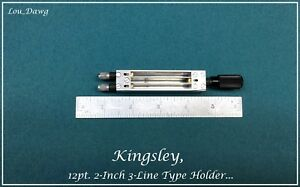 Kingsley Machine 12pt 2 inch 3 line Type Holder Hot Foil Stamping Machine