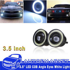 3 5 Led Fog Light Projector White Angel Eye Cob Halo Ring Drl Driving Bulbs Usa