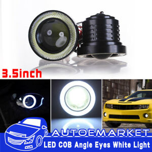 3 5inch Cob Led Fog Light Projector Car White Angel Eyes Halo Ring Drl Lamp Usa