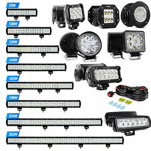 Nilight Led Light Bar Spot Flood Offroad Roof Lights Driving Lamp Truck Car 4wd