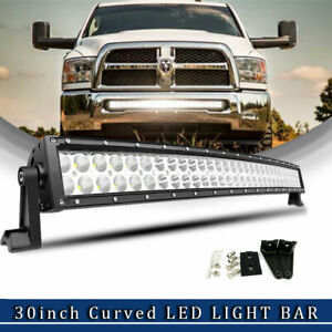 50inch Led Work Light Bar 1344w Curved Truck Offroad Suv Boat Driving For Jeep
