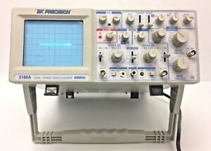 Bk Precision 2160a Analog Oscilloscope Dual Trace 2 Channel 60mhz Used