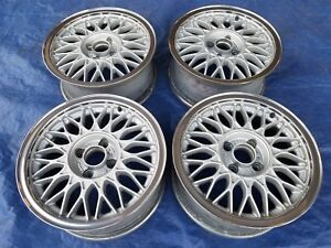 Bmw E30 2002 Oem Vw G60 Corrado Jetta Bbs Rz 15x6 5 Et33 4x100 Wheels Polished