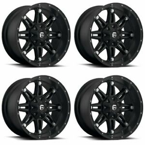 Set 4 20 Fuel Hostage D531 Black Wheels 20x12 8x6 5 44mm Lifted 8 Lug Trucks
