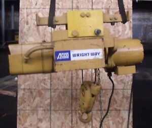 Wright Way 1 2 Ton Electric Hoist Acco Babcock