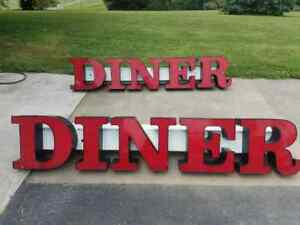 Led Diner Channel Letters Lighting Sign Advertising Outdoor Signage Restaurant