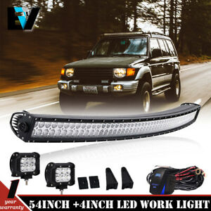 Roof 54 Curved Led Light Bar Mount Brackets For 05 10 Jeep Grand Cherokee Wk
