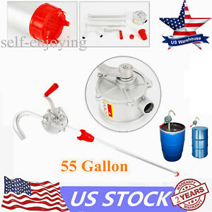 10 Gpm Self Priming Dispenser Fuel Hand Pump Hand Crank Aluminum Rotary Gas Oil