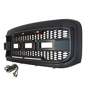 Raptor Conversion Abs Replacement Led Grille With Shell 99 04 Ford F250 F350