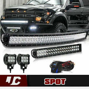 42inch Curved Led Light Bar 23in 4 Cree Pods For Suv 4wd Fog Jeep 40 in