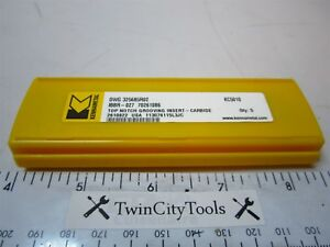 5 Kennametal 70261086 Top Notch Carbide Grooving Inserts Dwg 325685r02