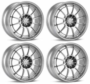 Enkei Silver Nt03 m In Silver Set Of Four 18x9 5 Rims 5x100 40mm For Wrx