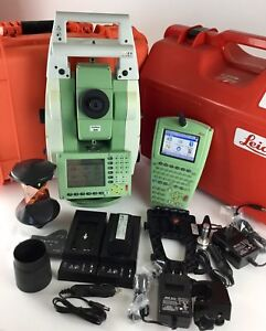 Leica Tcrp1203 R300 3 Robotic Total Station With Rx1250tc Data Collector