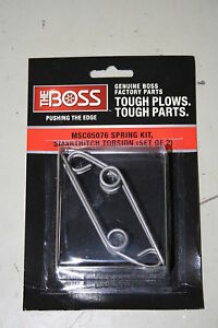 Boss Snowplow Smarthitch Torsion Spring Kit Msc05076