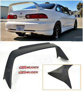 Mugen Style Rear Trunk Wing Spoiler W Red Emblems For 94 01 Integra Hatchback