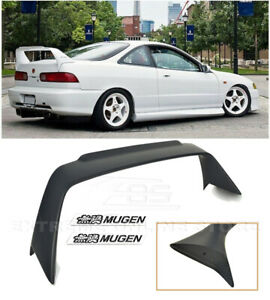 Mugen Style Rear Trunk Wing Spoiler W Black Emblems For 94 01 Integra 3dr Dc2