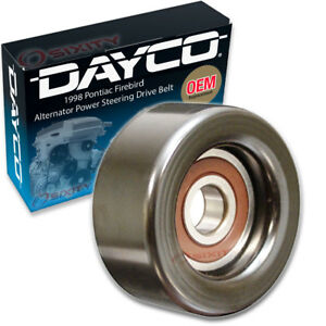 Dayco Alternator Power Steering Drive Belt Idler Pulley For 1998 Pontiac Lb
