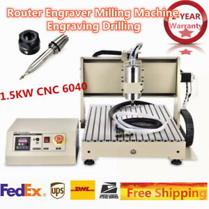 Router Engraver Milling Machine Engraving Drilling Water cooling 1 5kw Cnc 6040