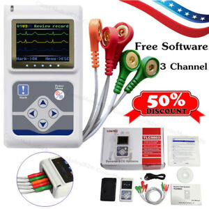 3 Channel Ecg Holter 24 Hours Dynamic Ekg Holter Portable Ecg Monitor software