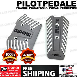 Silver 2 Pcs At Universal Racing Non Slip Metal Automatic Car Pedals Pad Cy15