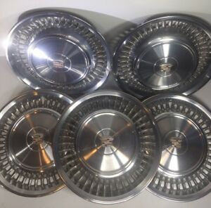 5 1971 1972 Cadillac Deville Fleetwood 15 Wheel Covers Hubcaps