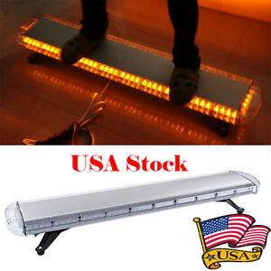 88led Strobe Light Bar 47 Emergency Warning Hazard Beacon Tow Response Yellow