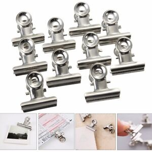 1000pcs School Stainless Steel Silver Bulldog Clip Money Letter Paper File Clamp