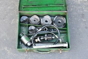 Greenlee 7310 Ram And Hand Pump Hydraulic Driver Kit With 10 Conduit Sized Punch