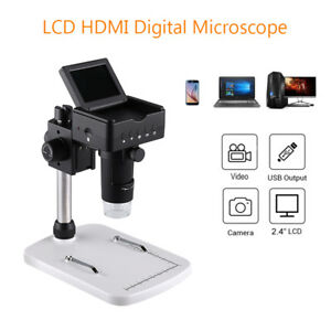 Usb Lcd Hdmi Digital Microscope Camera 220x 1080p Hd Magnifier Fr Ios Mac Remote