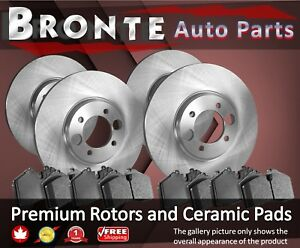 2013 2014 For Ford Mustang Shelby Gt500 Front Rear Brake Rotors Ceramic Pads