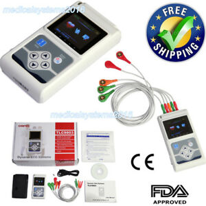 Ecg ekg System 3 Channel 12 Leads Holter Monitor 24 Hours pc Software Factory
